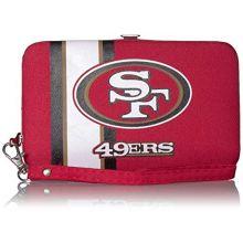"NFL San Francisco 49ers ""Distressed Logo"" Shell Wristlet"