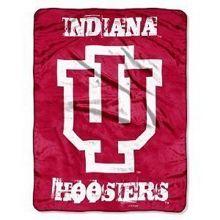 NCAA Officially Licensed Micro Raschel Plush Grunge Series Fleece Throw Blanket (Indiana Hoosiers)