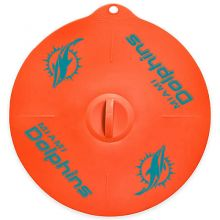 """Miami Dolphins 9"""" Silicone Lid"""