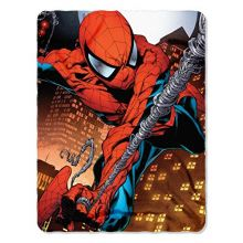 "Marvel Web Swing Fleece Throw Blanket Spider-Man, 45"" x 60"", Multi Color"