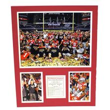 Bama NCAA Officially Licensed Ohio State Buckeyes Celebration Double Matte Photo.