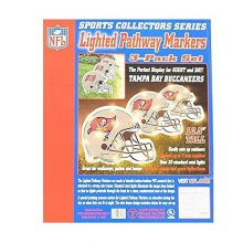 Topperscot NFL Officially Licensed 3 pack Lighted Pathway Markers (Tampa Bay Buccaneers)