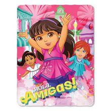 "The Northwest Company Nickelodeon's Dora & Friends, Adventura Printed Fleece Throw, 45"" x 60"", Multi Color"