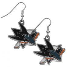 NHL Officially Licensed San Jose Sharks Dangle Earrings