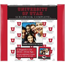 """Tapestry NCAA Officially Licensed University of Utah Utes 8"""" X 8"""" Complete Sc."""