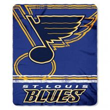 "NHL Officially Licensed St. Louis Blues Shadow Fleece Throw Blanket (50"" x 60"")"