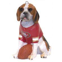 NFL Licensed San Francisco 49ers Team Dog Ornament (Beagle)