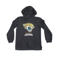 NFL Officially Licensed Jacksonville Jaguars Reflective Gold Outline Logo Youth Hoodie (Extra Large (18))