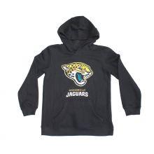 NFL Officially Licensed Jacksonville Jaguars Reflective Gold Outline Logo Youth Hoodie (Large (14/16))