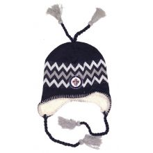 NHL Officially Licensed Winnipeg Jets Sherpa Lined Tassel Beanie Hat Cap Lid Skull