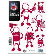 NFL Arizona Cardinals Small Family Decal Set