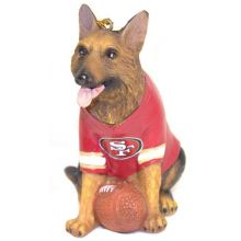 NFL Licensed San Francisco 49ers Team Dog Ornament (Shepherd)