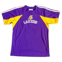 LA Lakers NBA Licensed Short Sleeve Youth Dry Fit Shirt (XXL 18)