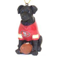 NFL Licensed San Francisco 49ers Team Dog Ornament (Labrador)