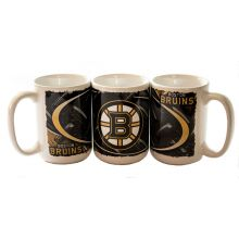 NHL Officially Licensed One 15 Oz Diamond Plate Graphic Coffee Mug (Boston Br...