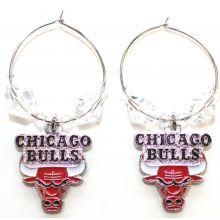 NBA Officially Licensed Chicago Bulls Beaded Hoop Earrings