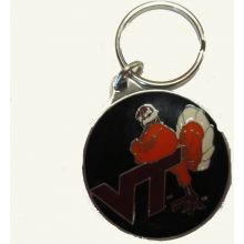 NCAA Officially Licensed Pewter Keychain Keyring (Virginia Tech Hoakies)