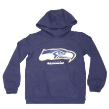 NFL Officially Licensed Seattle Seahawks Reflective Gold Outline Logo Youth Hood