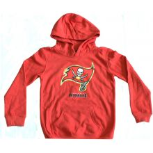 NFL Officially Licensed Tampa Bay Buccaneers Reflective Gold Outline Logo Youth Hoodie (Medium 10-12)