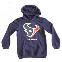 NFL Officially Licensed Houston Texans Reflective Gold Outline Logo Youth Hoodie
