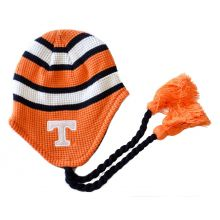 NCAA Licensed Striped Tassel YOUTH Beanie (Tennessee Volunteers)