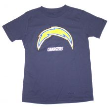 NFL Officially Licensed San Diego Chargers Reflective Gold Outline Logo Youth T-Shirt (small 8)