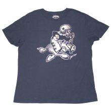 NFL Licensed Dallas Cowboys Womens Metalic Print Short Sleeve Crew Neck T- Shirt (2XL)