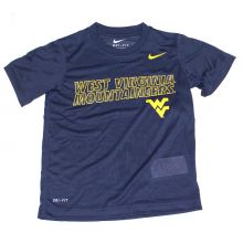 NCAA Licensed West Virginia Mountaineers YOUTH Dri-Fit T-Shirt (Size 6 )