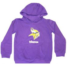NFL Officially Licensed Minnesota Vikings Reflective Gold Outline Logo Youth Hoodie (Medium (10/12))