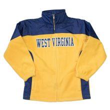 NCAA Licensed West Virginia Mountaineers Full Zip YOUTH Fleece Jacket (Extra Large 14/16)