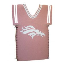 Denver Broncos Licensed Pink Jersey bottle koozie cooler