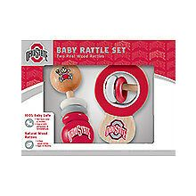 Ohio State Buckeyes Wooden Baby Rattle Set
