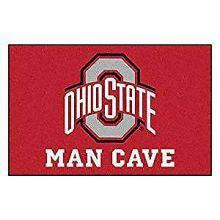 "Ohio State Buckeyes Man Cave Starter Rug 19"" X 30"""