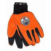 Edmonton Oilers Orange And Black Utility Gloves