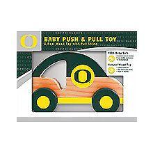 Oregon Ducks Push & Pull Wood Toy