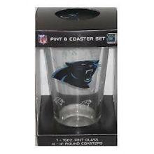 Carolina Panthers Pint and Coaster Set