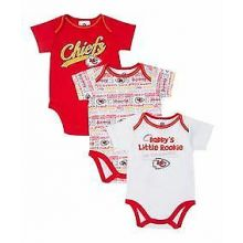 Kansas City Chiefs 2014 Boys 3 Piece Bodysuit Set