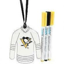 Pittsburgh Penguins Color Your Own Ceramic Jersey Ornament