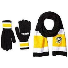 Pittsburgh Penguins Cold Weather Knit Scarf and Glove Set