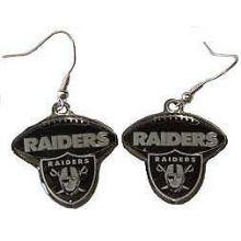 Oakland Raiders Football Style Dangle Earrings
