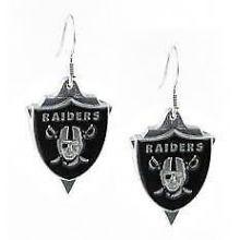 Oakland Raiders Pennant Style Dangle Earrings