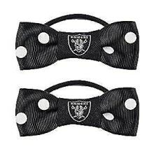 Oakland Raiders Bow Pigtail Holder