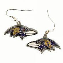 Baltimore Ravens Logo Dangle Earrings