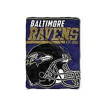 "Baltimore Ravens 46"" x 60"" Super Plush Throw Blanket"