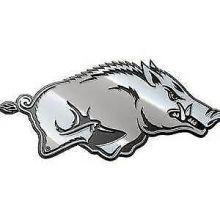 Arkansas Razorbacks Real Chrome Metal Auto Emblem