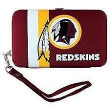 "Washington Redskins Distressed Wallet Wristlet Case (3.5"" X .5"" X 6"")"