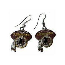 Washington Redskins Football Dangle Earrings