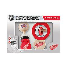 Detroit Red Wings Wooden Baby Rattle Set