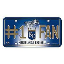 Kansas City Royals #1 Fan Metal Auto Tag