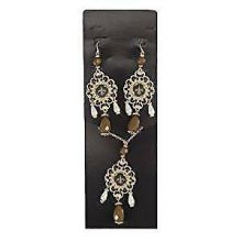 New Orleans Saints Baroque Necklace and Earring Set